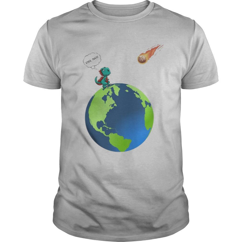 Oh no T rex earth shirt Classic Men's
