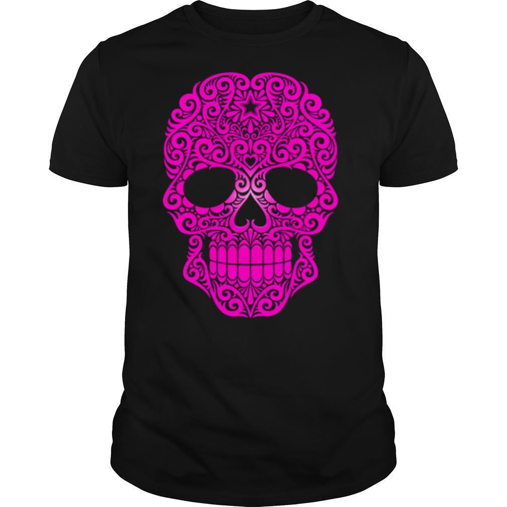 Pink Swirling Sugar Skull shirt Classic Men's