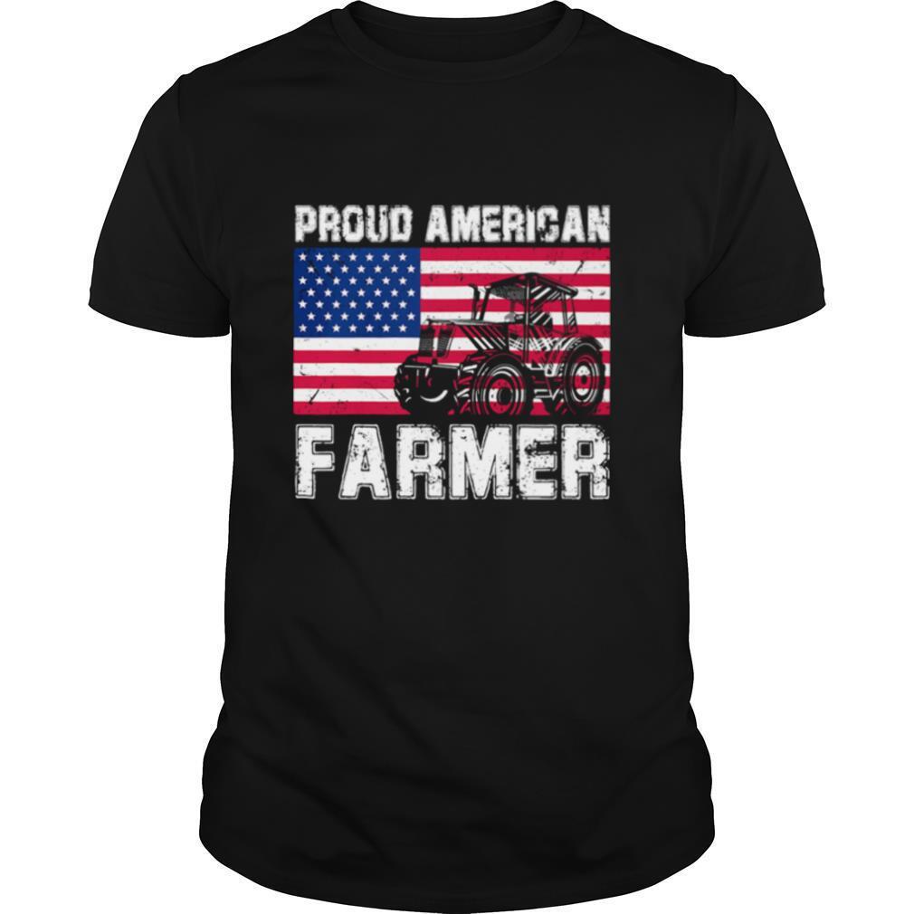 Proud american farmer flag shirt Classic Men's