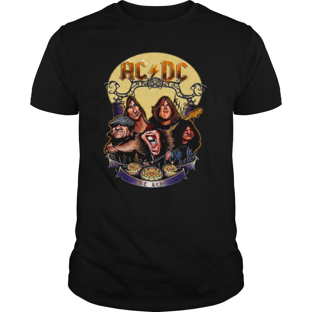 The ACDC Rock Band Comic Halloween shirt Classic Men's