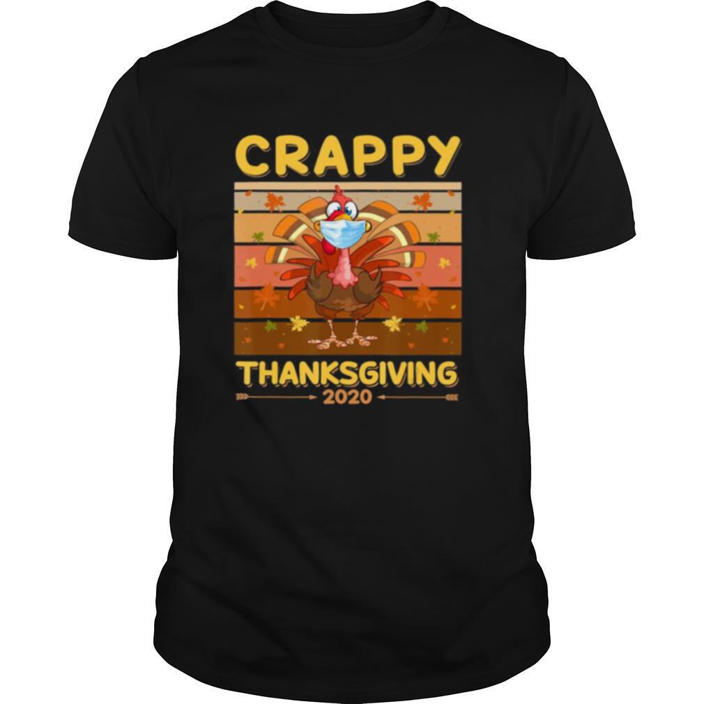 Turkey Face Wearing A Mask Crappy Thanksgiving 2020 shirt Classic Men's