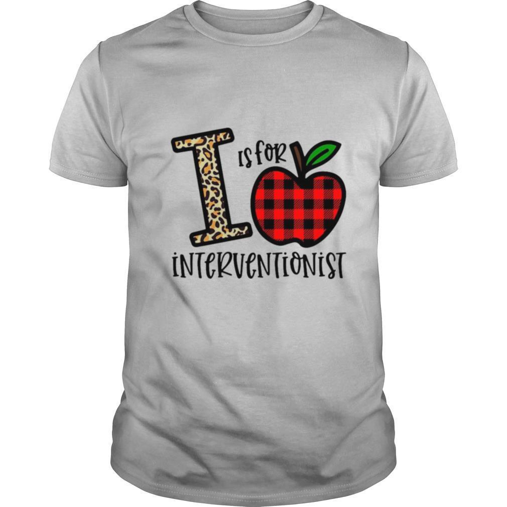 Apple I Leopard Is For Teacher Interventionist shirt Classic Men's