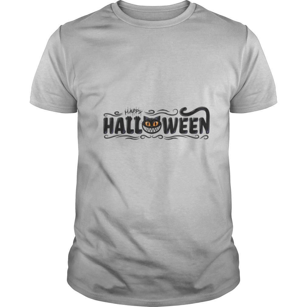 Black Cat Pumpkin Face shirt Classic Men's