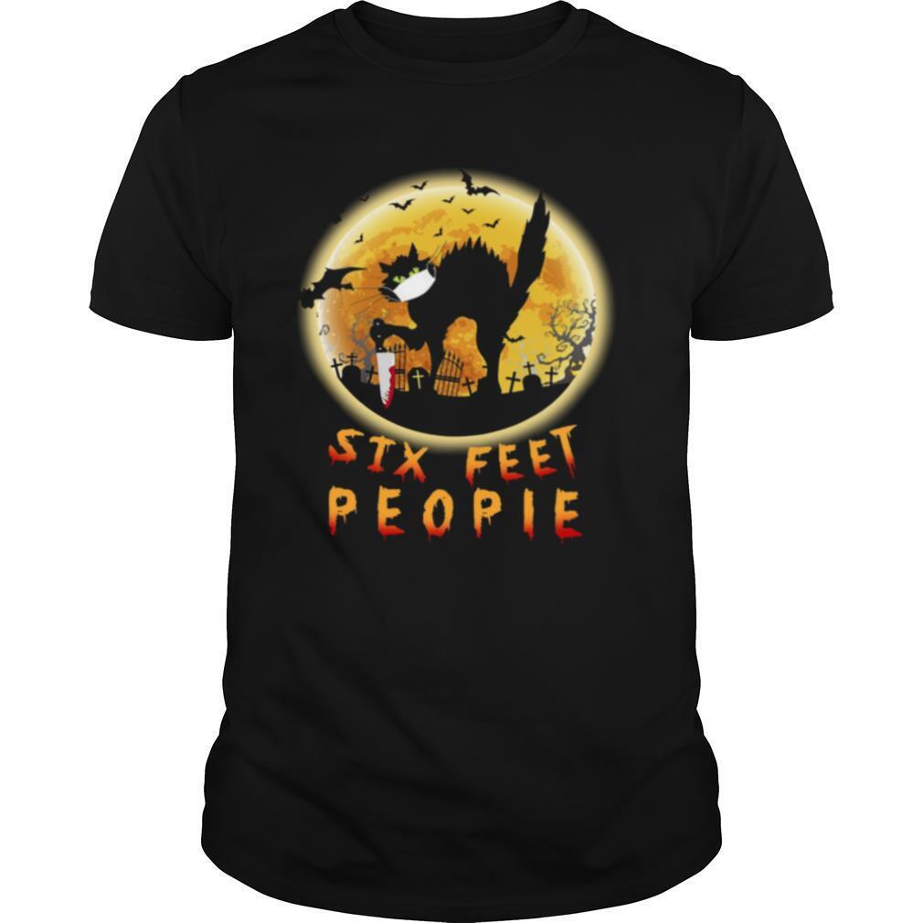 Black Cat Six Feet People Horror Halloween shirt Classic Men's