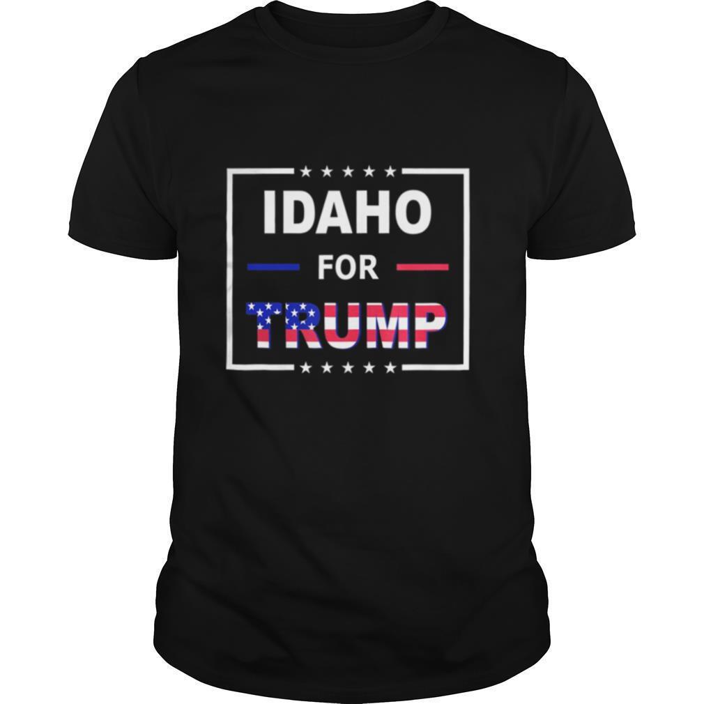 Idaho Votes For Trump American flag shirt Classic Men's
