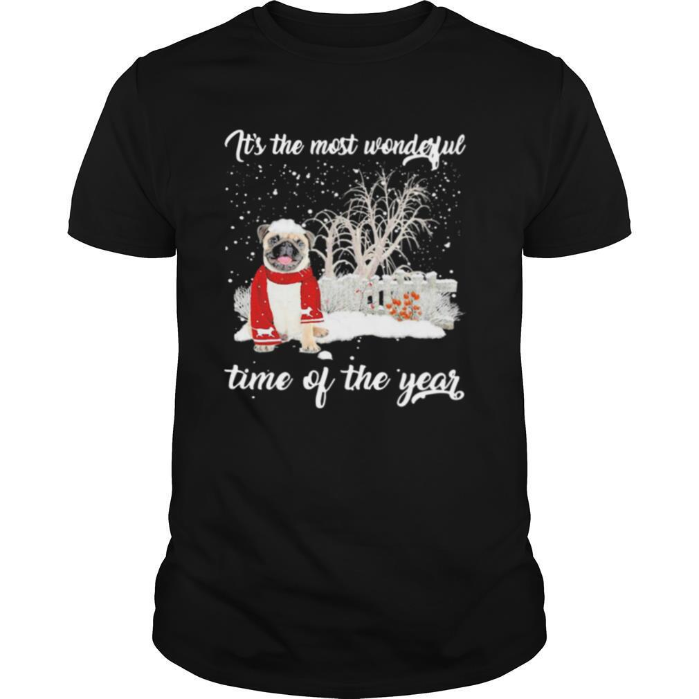 Pug Its The Most Wonderful Time Of The Year shirt Classic Men's