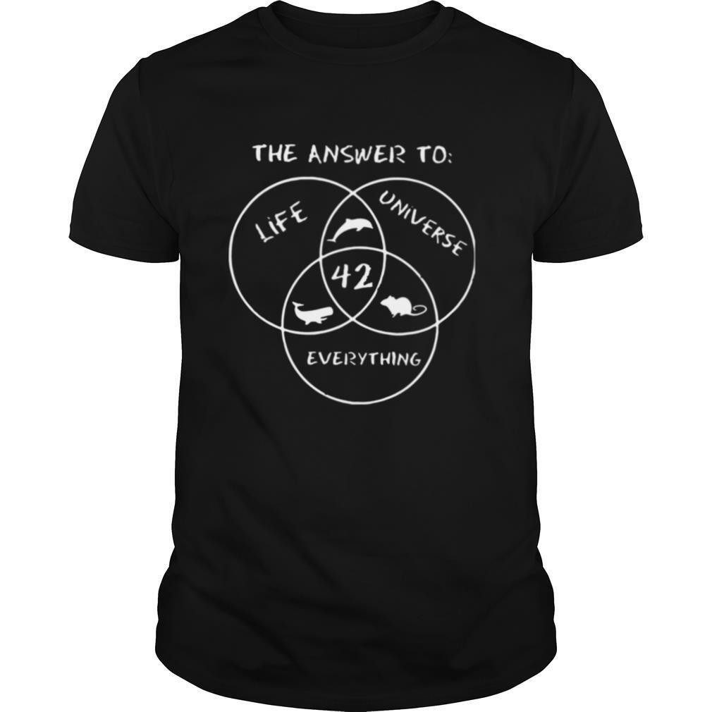 The Answer To Life Universe Everything shirt Classic Men's