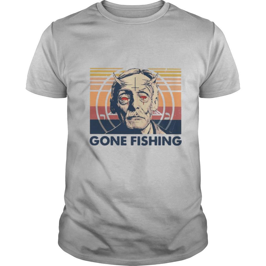 True Crime Gone Fishing Vintage Retro shirt Classic Men's