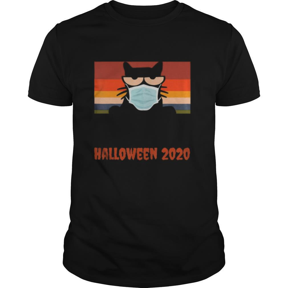 Halloween 2020, Funny Black Cat with Mask shirt Classic Men's