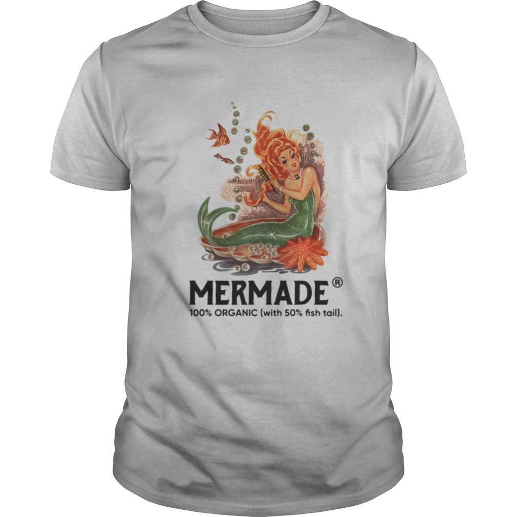 Mermaid 100 percent organic with 50 percent fishtail shirt Classic Men's
