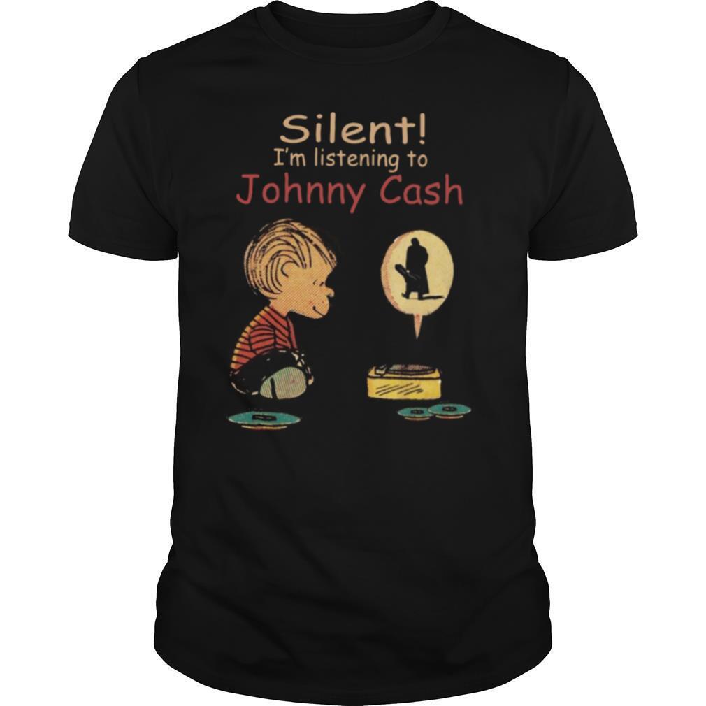 Silent I'm listening to Johnny Cash shirt Classic Men's