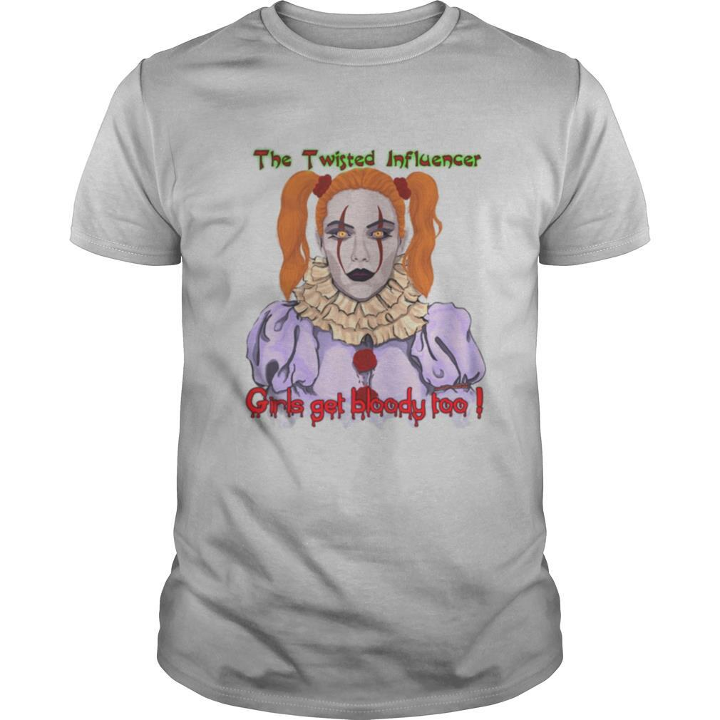 The Twisted Influencer Girls get bloody too! Scary Clown shirt Classic Men's