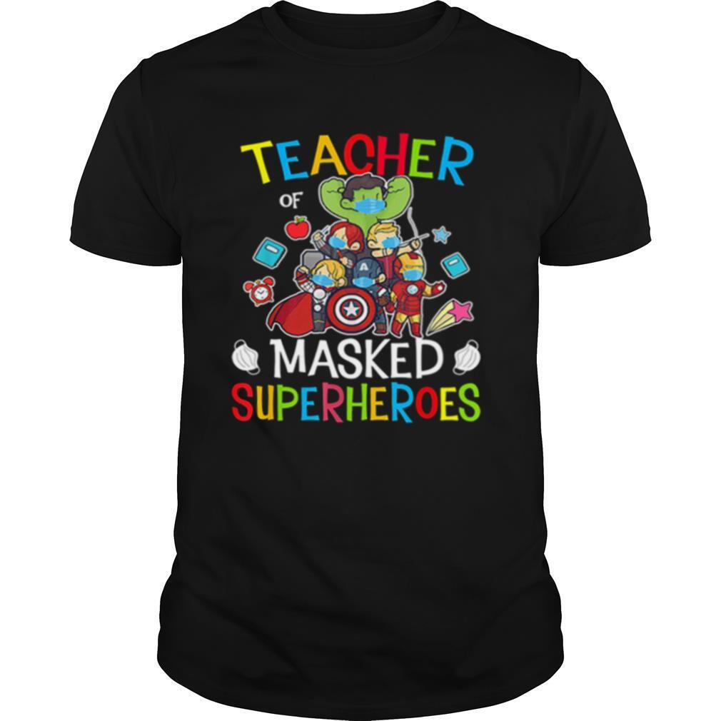 Avengers Teacher Of Masked Superheroes shirt Classic Men's