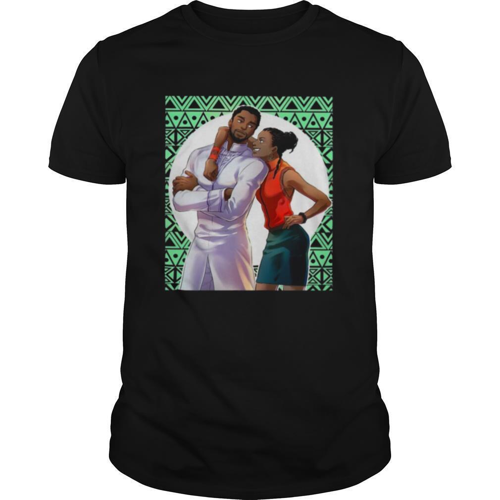 Black Panther Chadwick Boseman and Taylor shirt Classic Men's