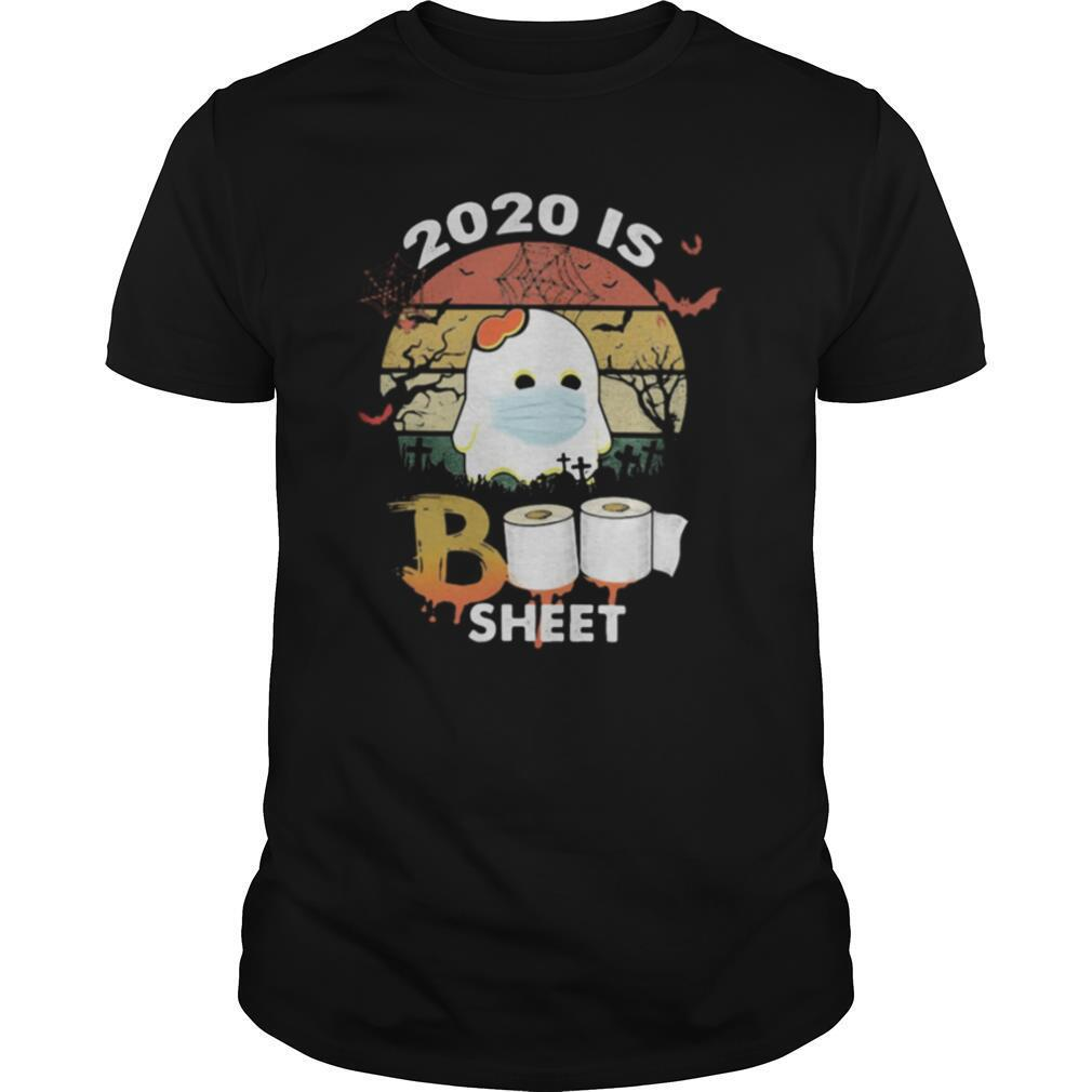 Halloween ghost mask 2020 is boo sheet toilet paper vintage retro shirt Classic Men's