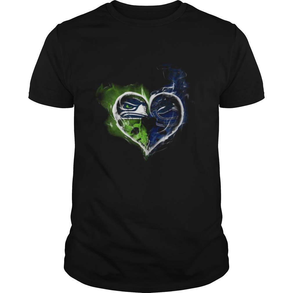 Heart Seattle Seahawks and Vancouver Canucks shirt Classic Men's