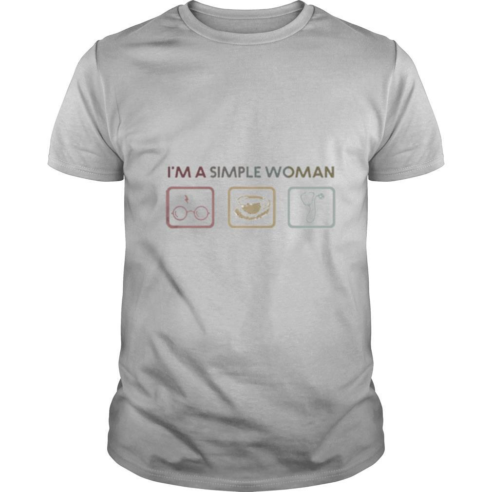 Im A Simple Woman I Like Harry Potter Coffee And Nurse shirt Classic Men's