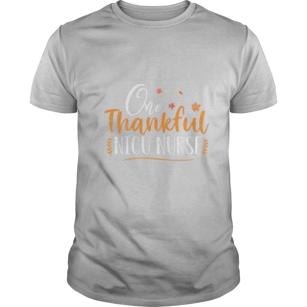 One Thankful Nicu Nurse shirt Classic Men's