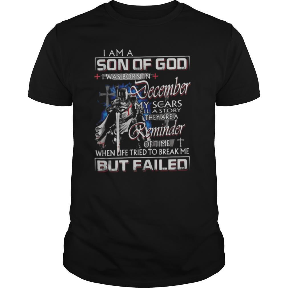 Vikings i am a son of god i was born in december my scars tell a story they are a reminder of time shirt Classic Men's