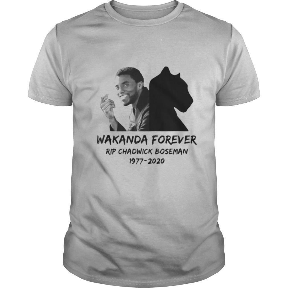 Wakanda forever rip chadwick black panther actor 1977 2020 shirt Classic Men's