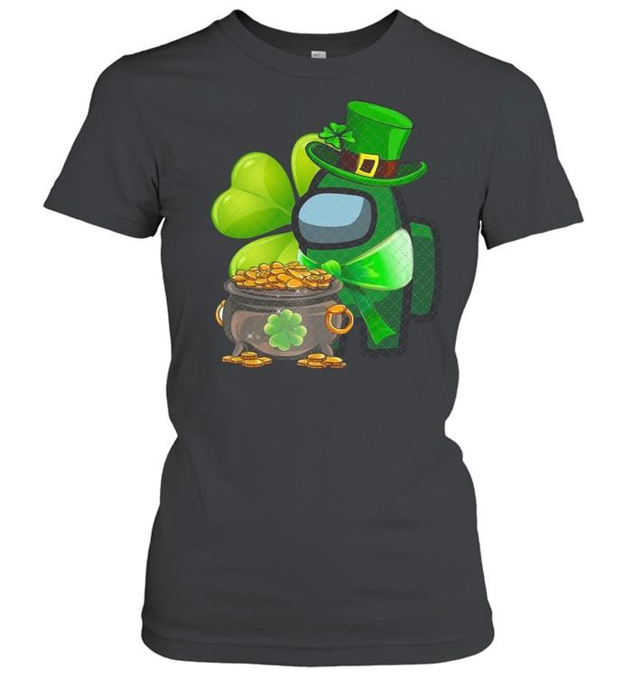 Among Us St Patrick's Day 2021 Shamrock Lucky shirt Classic Women's T-shirt