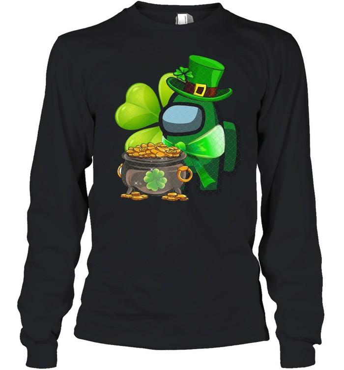 Among Us St Patrick's Day 2021 Shamrock Lucky shirt Long Sleeved T-shirt