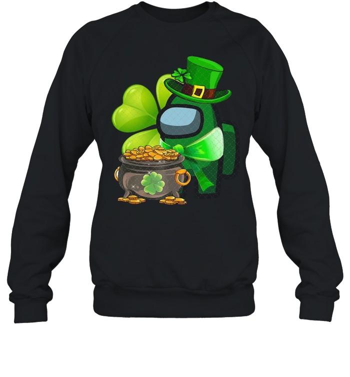 Among Us St Patrick's Day 2021 Shamrock Lucky shirt Unisex Sweatshirt