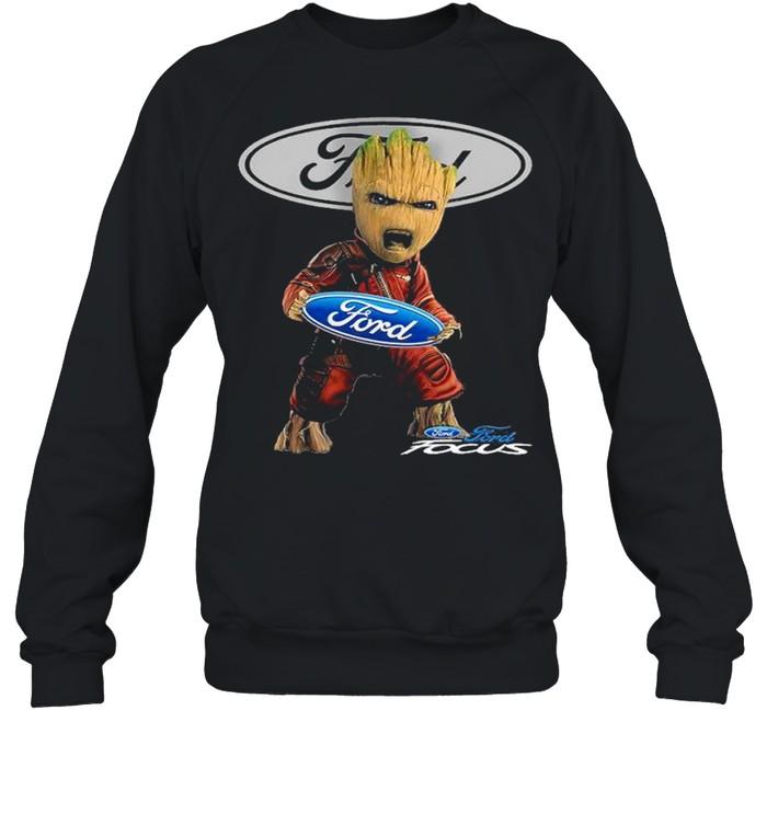 Baby groot hug ford focus shirt Unisex Sweatshirt
