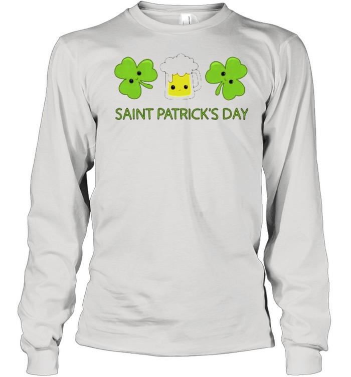 Beer Clover Saint Patricks Day shirt Long Sleeved T-shirt