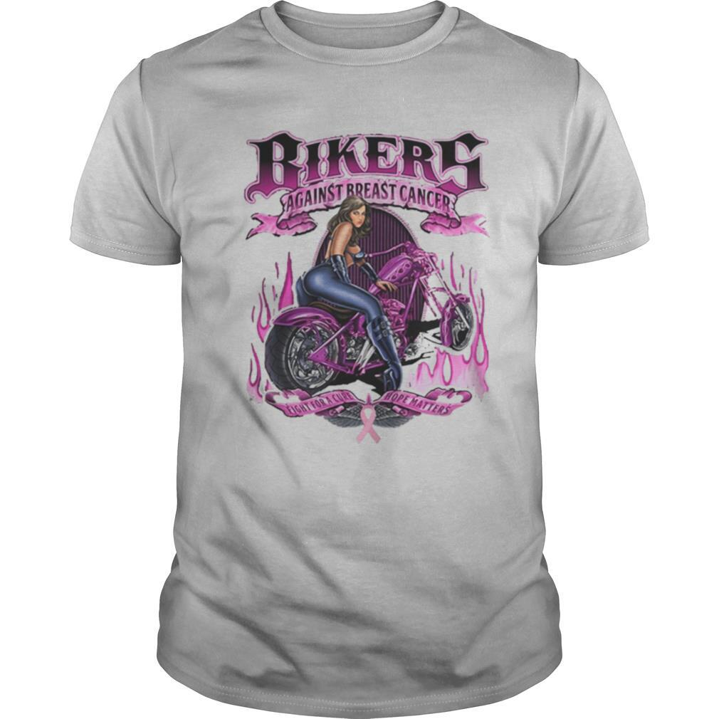 Bikers against breats cancer fight for a cure hope matters shirt Classic Men's