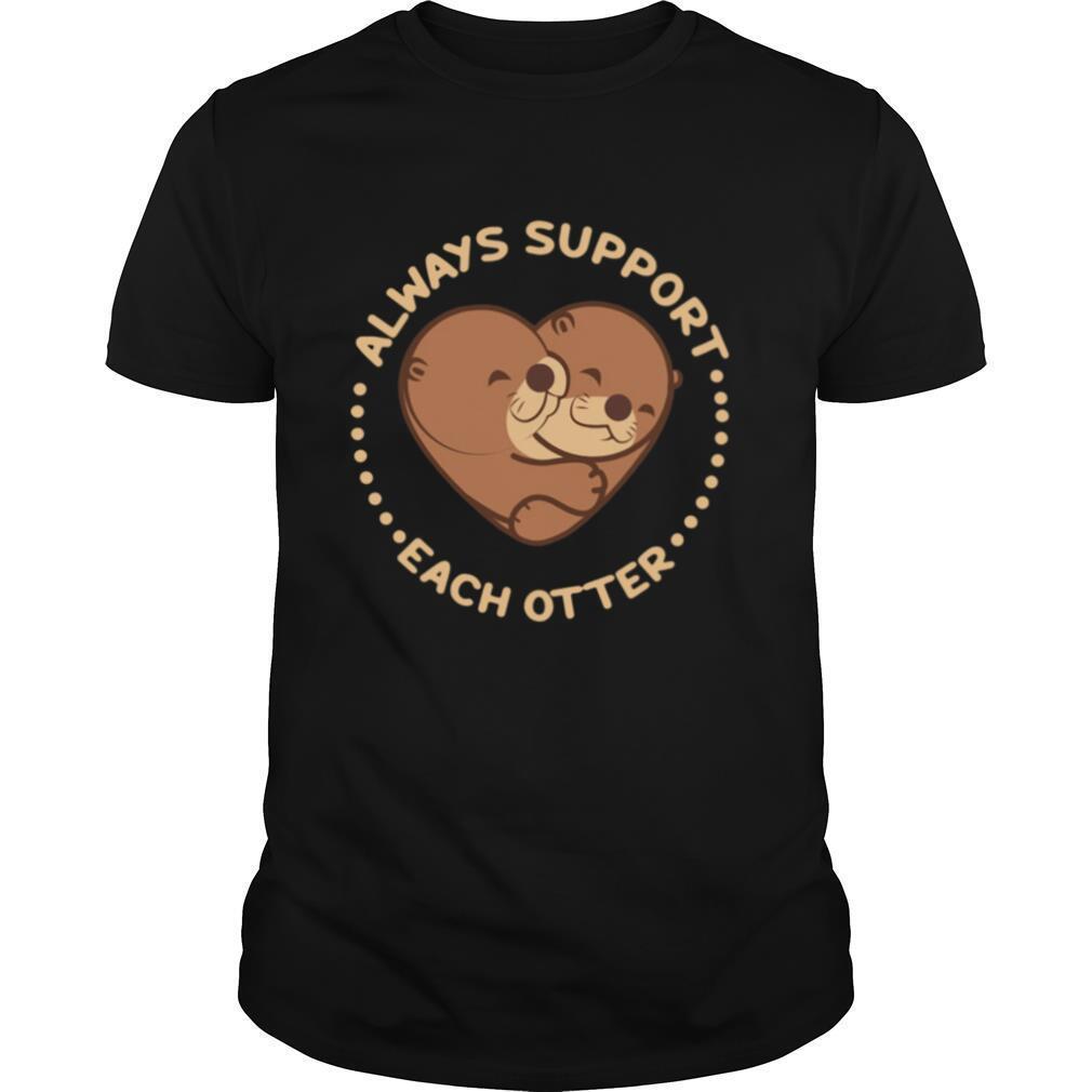 Heart always support each otter shirt Classic Men's
