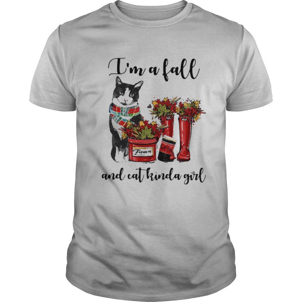 Im A Fall And Cat Kinda Girl Flowers shirt Classic Men's