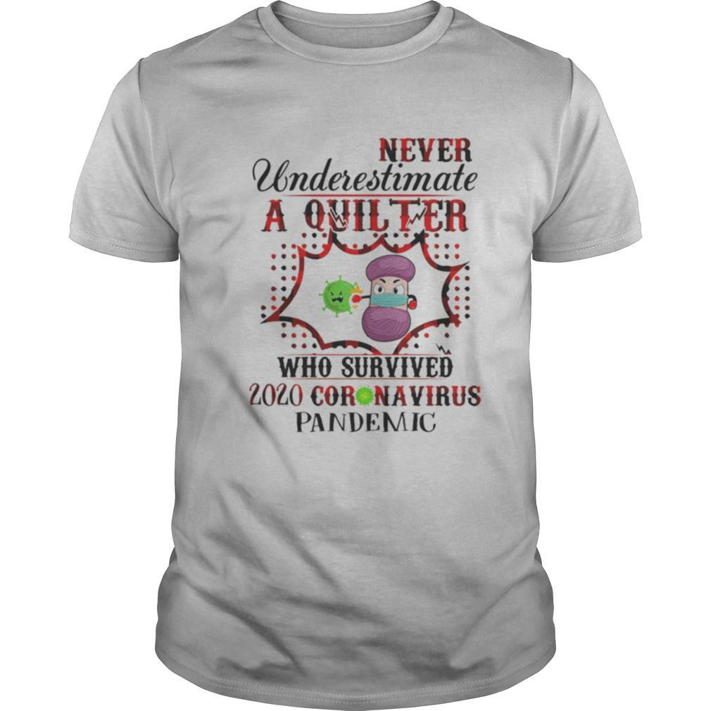 Never underestimate a quilter who survived 2020 coronavirus pandemic shirt Classic Men's