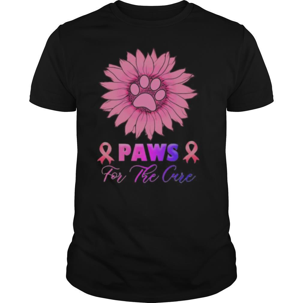 Sunflower Paws for the cure Breast Cancer Awareness shirt Classic Men's