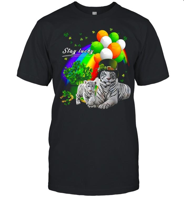 Tiger Irish Shamrock Stay Lucky St Patrick's Day shirt Classic Men's T-shirt