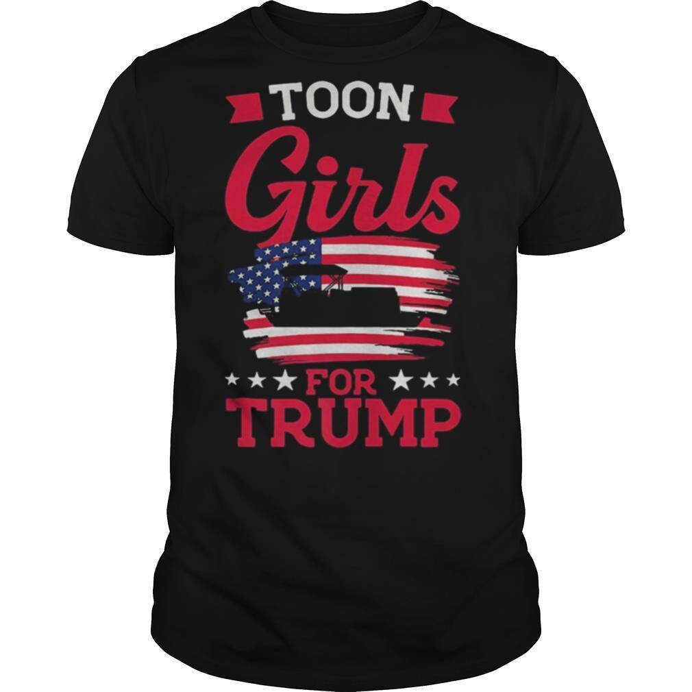 Toon girls for Trump Pontoon Boat American Flag shirt Classic Men's