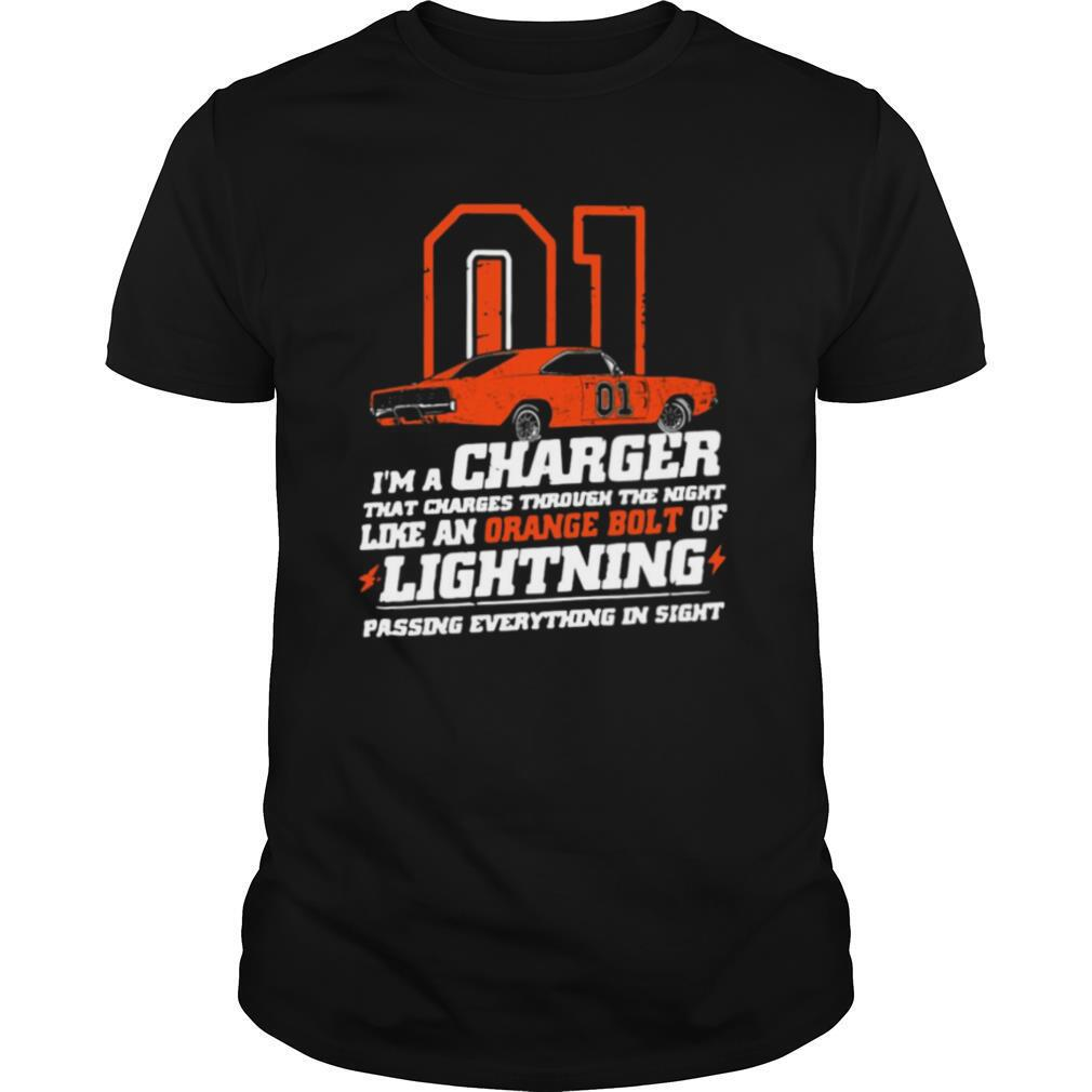01 I'm A Charger That Charges Through The Night Like An Orange Bolt Of Lighting shirt Classic Men's