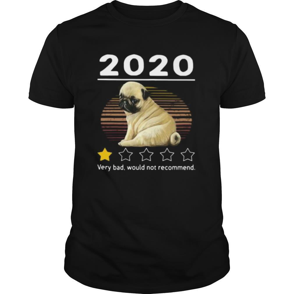 2020 pug very bad would not recommend stars vintage retro shirt Classic Men's