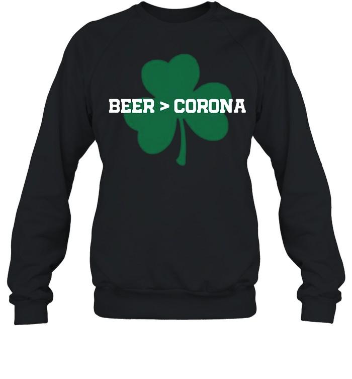 Beer Corona Saint Patricks Day 2021 shirt Unisex Sweatshirt