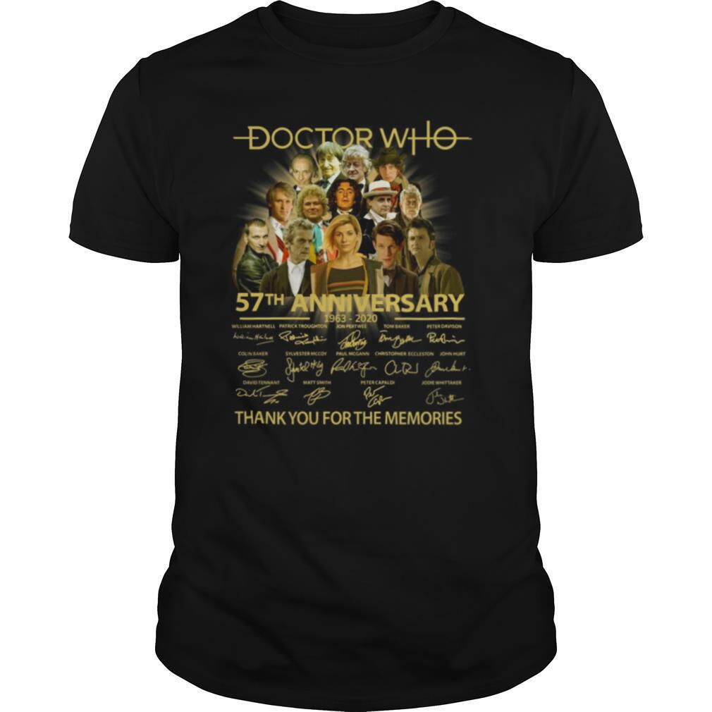 Doctor Who 57th Anniversary 1963 2020 Characters Signatures shirt Classic Men's