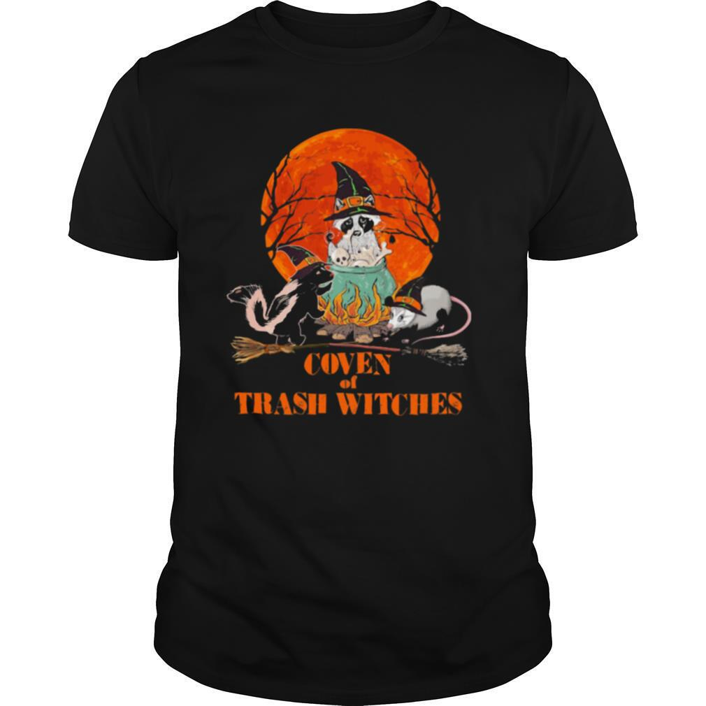 Halloween Animal Coven of trash witches sunset shirt Classic Men's