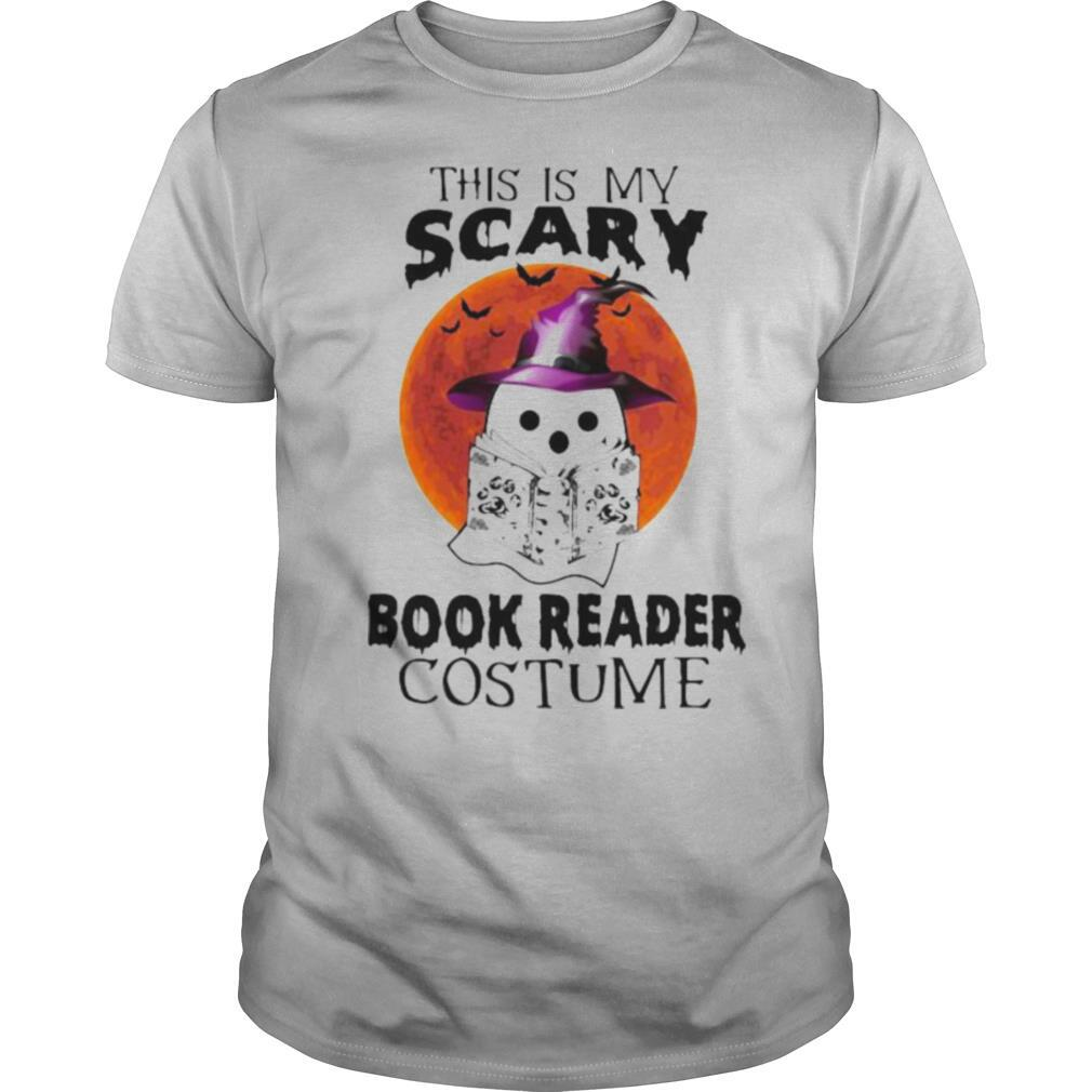 Halloween Ghost Witch This is my scary book reader costume sunset shirt Classic Men's