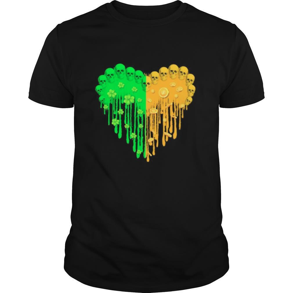 Heart Hippie Skulls Happy St Patricks Day 2021 shirt Classic Men's