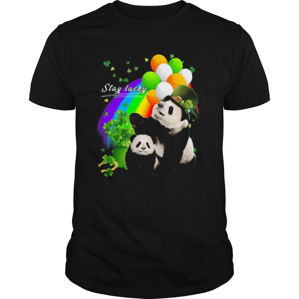 Irish Panda Stay Lucky Rainbow Patrick's Day shirt Classic Men's