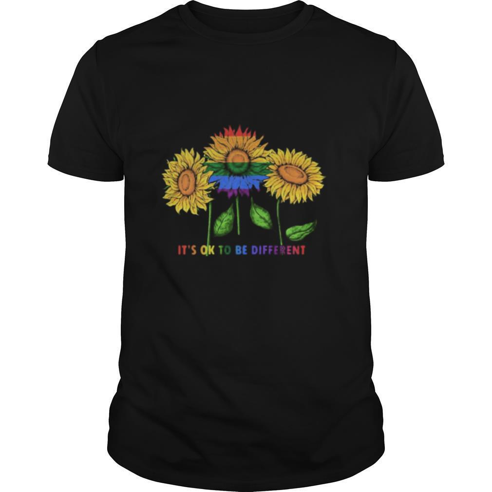 LGBT Sunflower it's ok to be different shirt Classic Men's