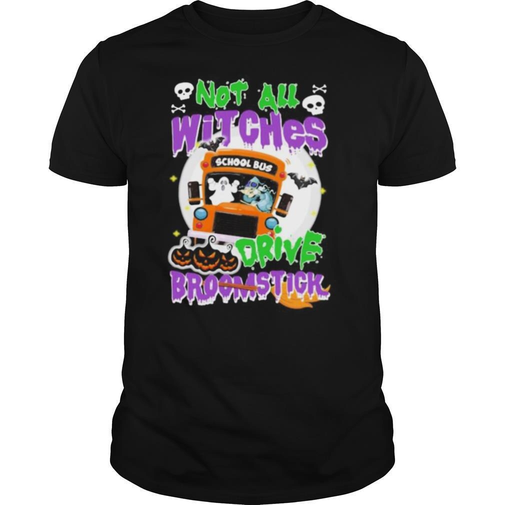 School Bus Not All witches drive broomstick Halloween shirt Classic Men's