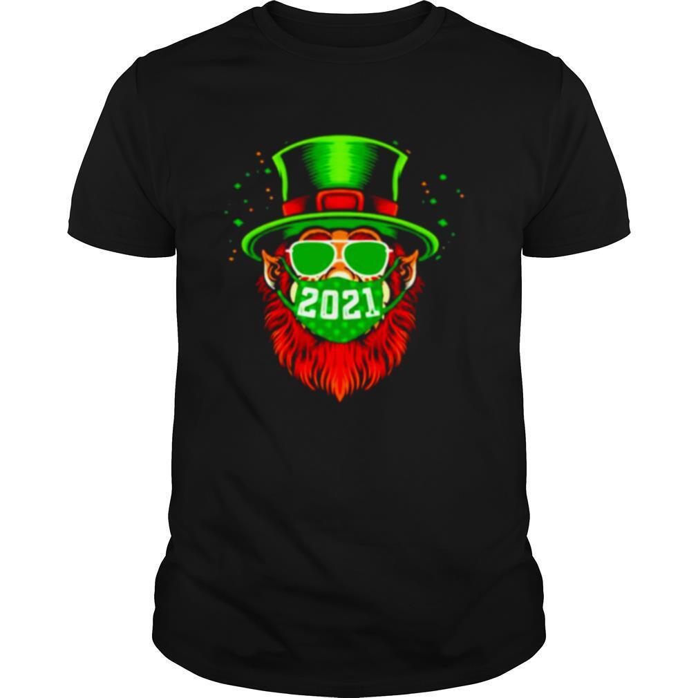 St Patricks day Leprechaun mask 2021 shirt Classic Men's