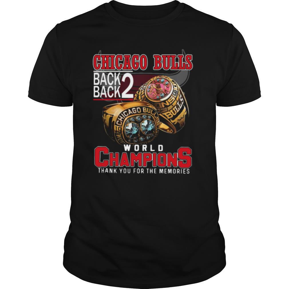 Chicago Bulls Back Back World Champions Thank You For The Memories shirt Classic Men's