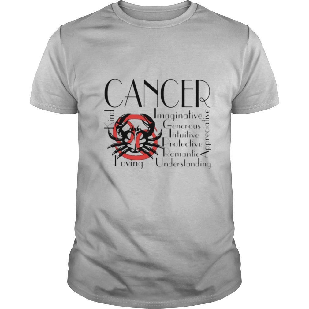 Crab Cancer Kind Imaginative Generous Intuitive Protective Romantic Understanding Appreciative Loving shirt Classic Men's