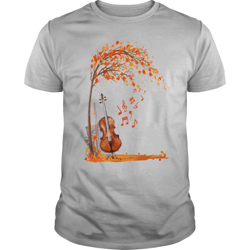 Fall Autumn Maple Leaf Violin shirt Classic Men's